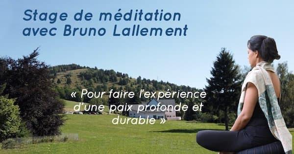 Stage de méditation