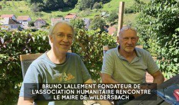 Bruno Lallement et le maire de Wildersbach